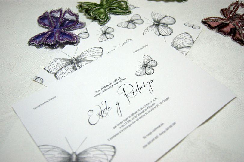 Invitación classic butterfly