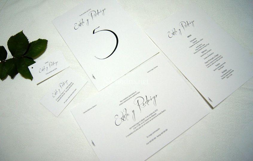 Papelería boda clásica