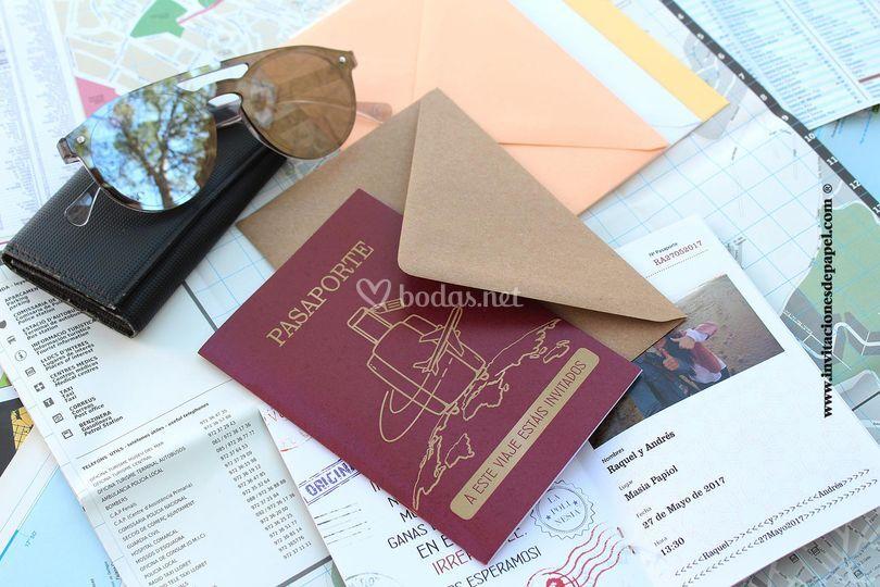 Invitación pasaporte