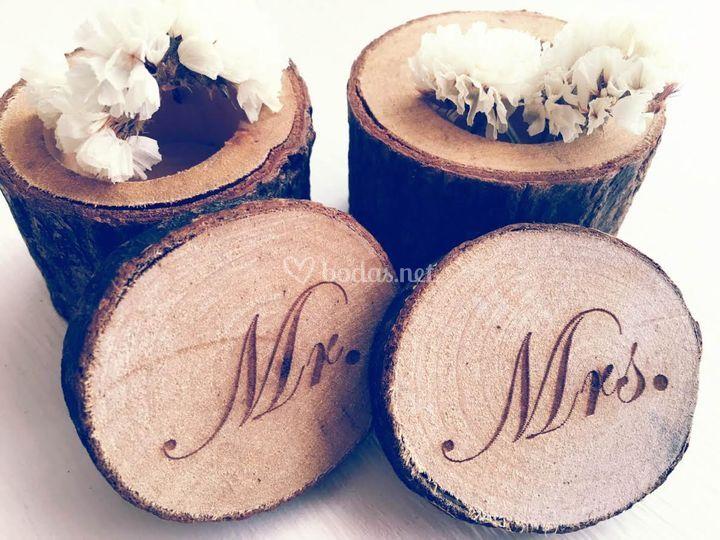 Cajas anillos boda