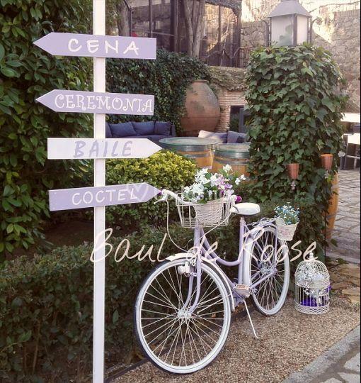 Bici vintage e indicador