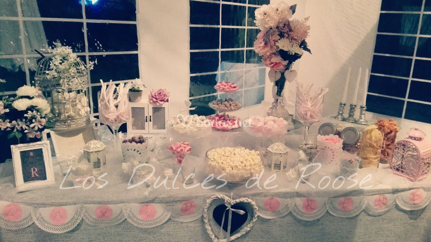 Mesa dulce romántica