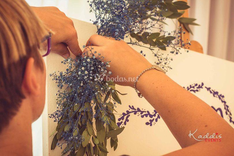 Arreglo floral Bienvenidos