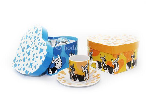 Set de 2 tazas vacas