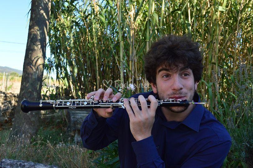 Tocando el oboe al revés