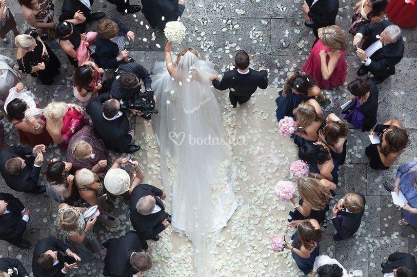 Drone bodas imágenes aéreas