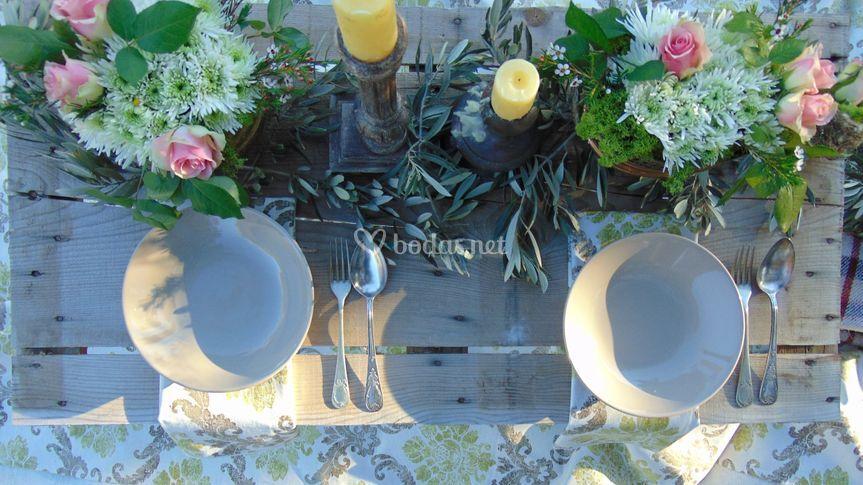Mesa en olivar