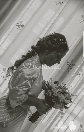 Recogido para novia trenzado