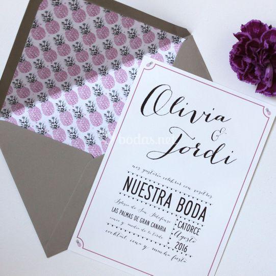 Invitación Pink Pinapple