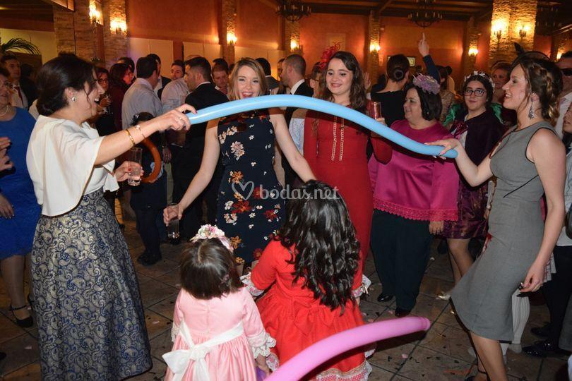 Bailes muy  participativos