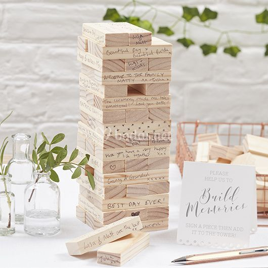 Libro de firmas - bloque de madera