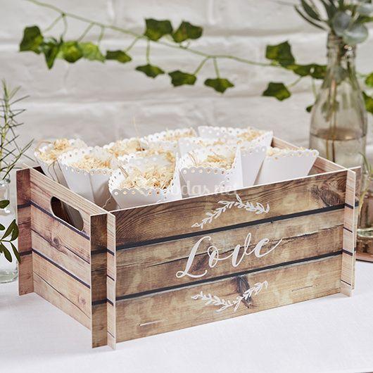 Caja efecto madera