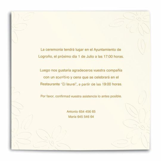 Invitaciones tipo