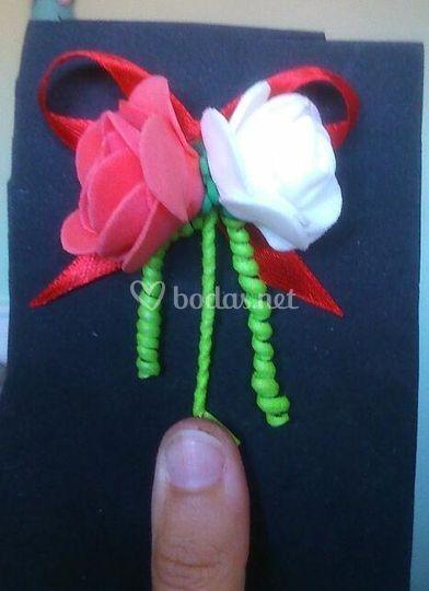 Flor para novio y padrino