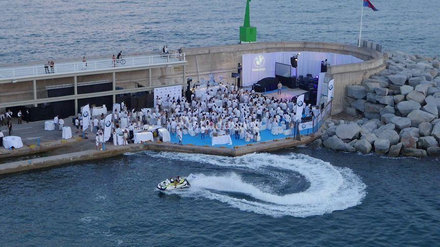 Evento en el Espigón de Mataró