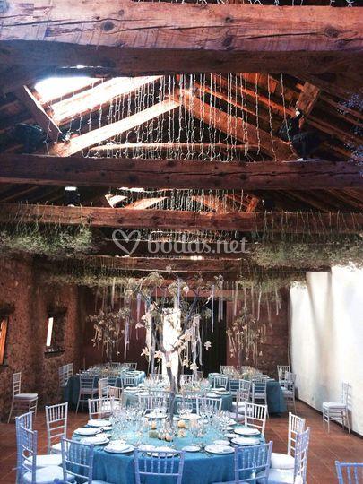 Techumbre del salón de bodas