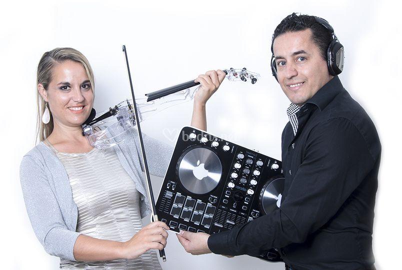 Violín y DJ