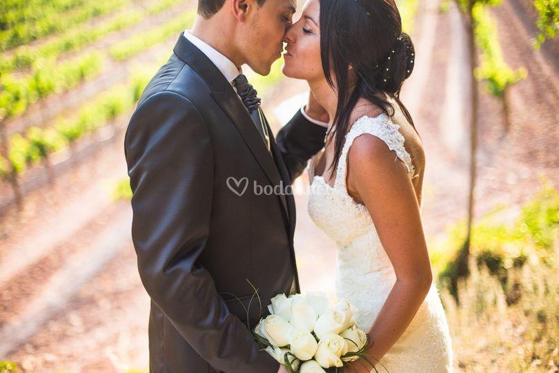 Un beso muy romántico