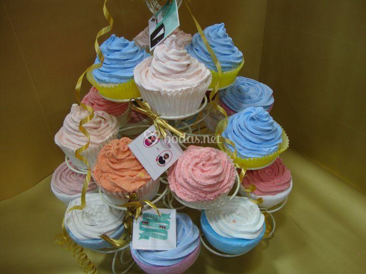 Cupcakes de jabón personalizados