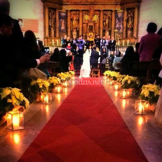 Decoración para boda católica