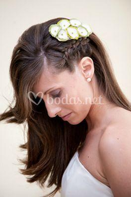 Peinado con trenza novia