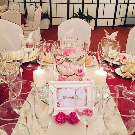 Identificación mesas invitados