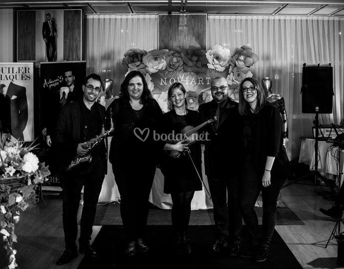 El equipo de músicos