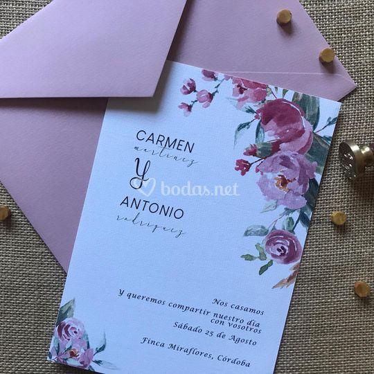 Invitación Rosas de Verano