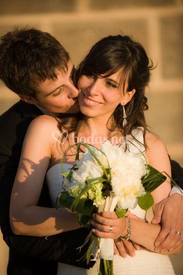 Bouquet de novia peonias