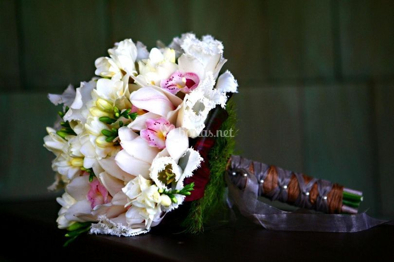 Ramo de novia orquídeas