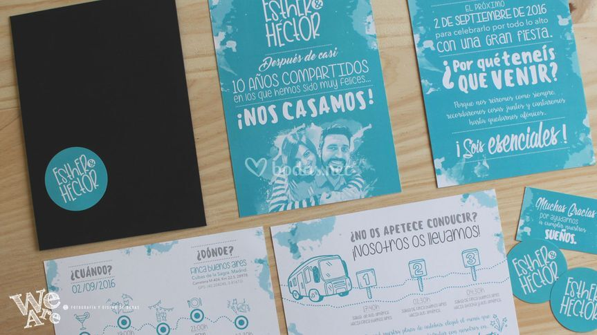 Invitaciones de Boda. WE ARE
