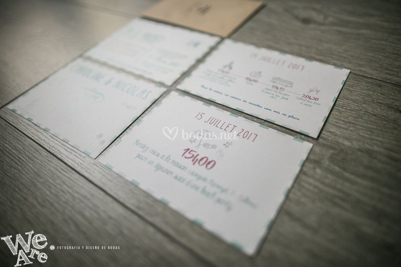 Invitaciones de boda postal