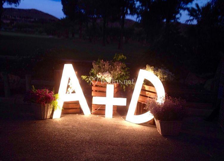 Letras luminosas personalizadas