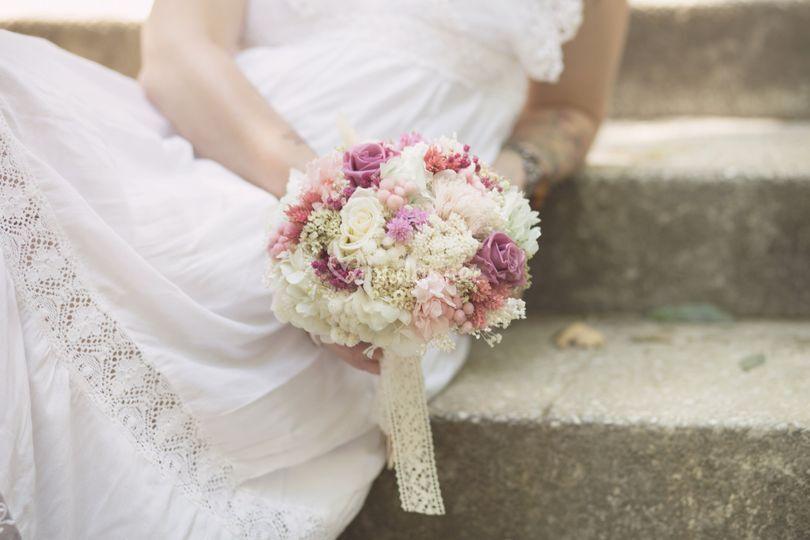 Ramo de novia preservado de Trencadissa Art Floral
