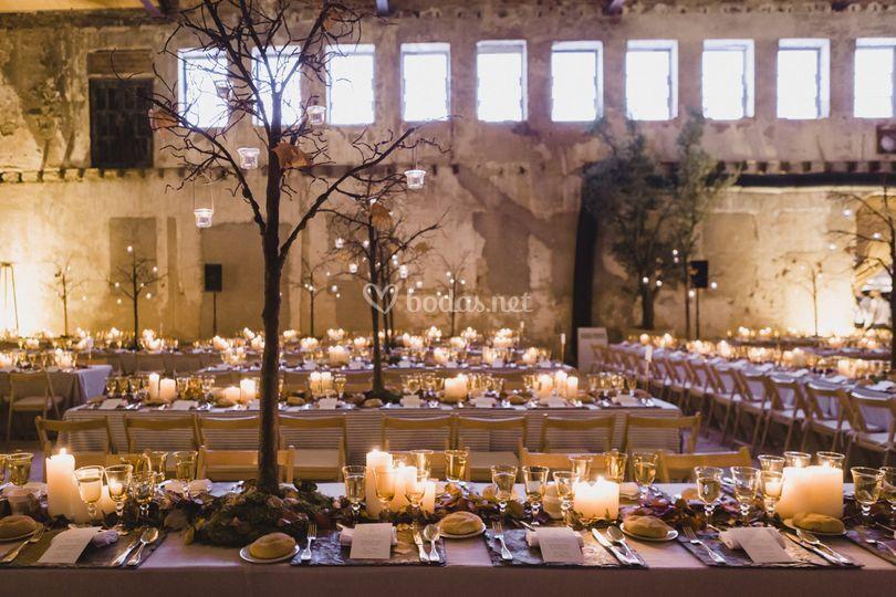 Montaje boda otoño
