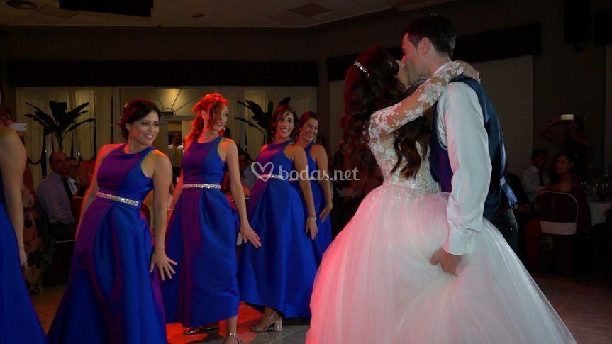 Frame de vídeo de boda