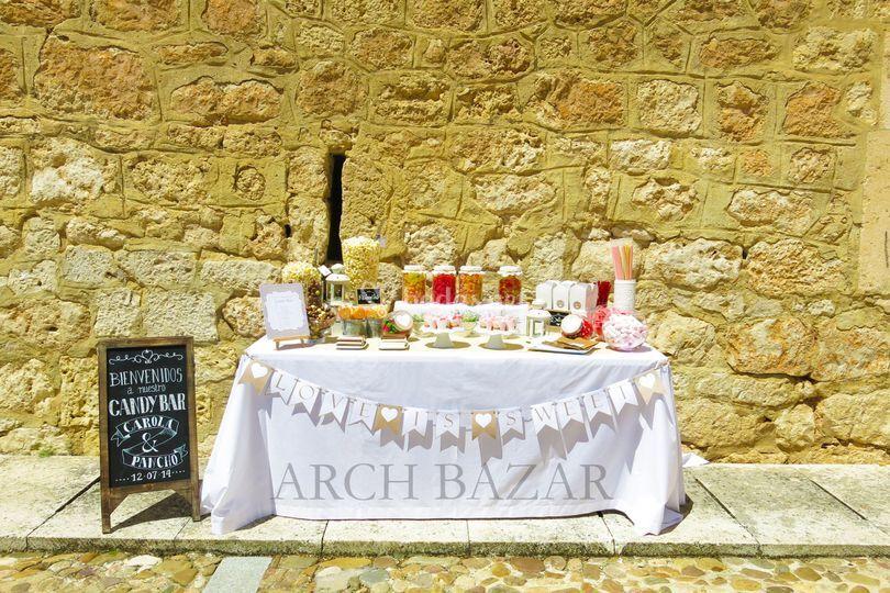 Candy Bar Romántico Arch Bazar