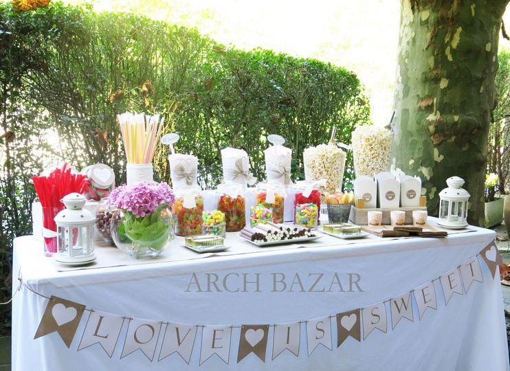 Candy Bar Inglés Arch Bazar
