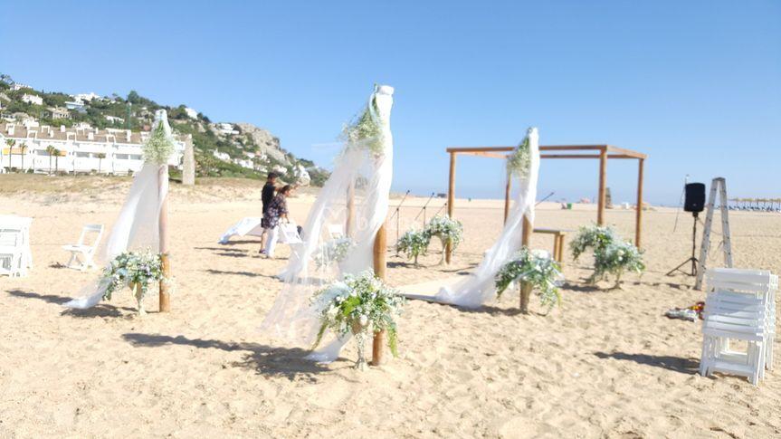 Decoración en la playa
