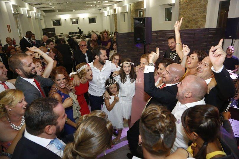 Durante una boda