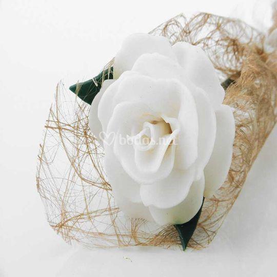 Rosa de cera perfumada