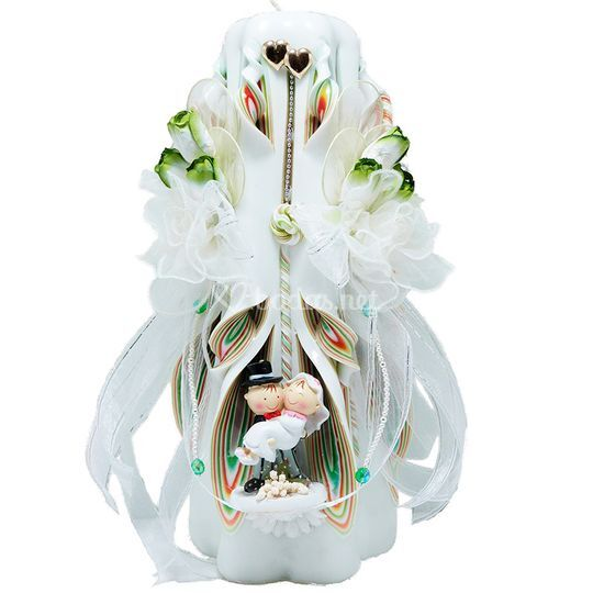 Vela decorada bodas