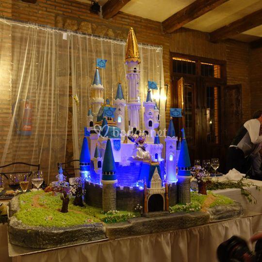 Castillo disney iluminado