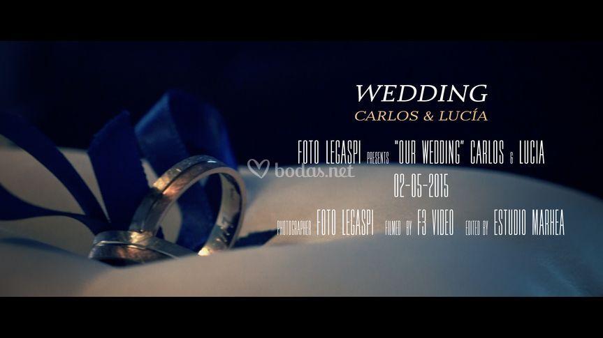 Cartel de Carlos y Lucía