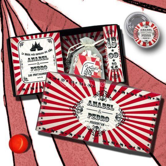 Caja circus-vintage