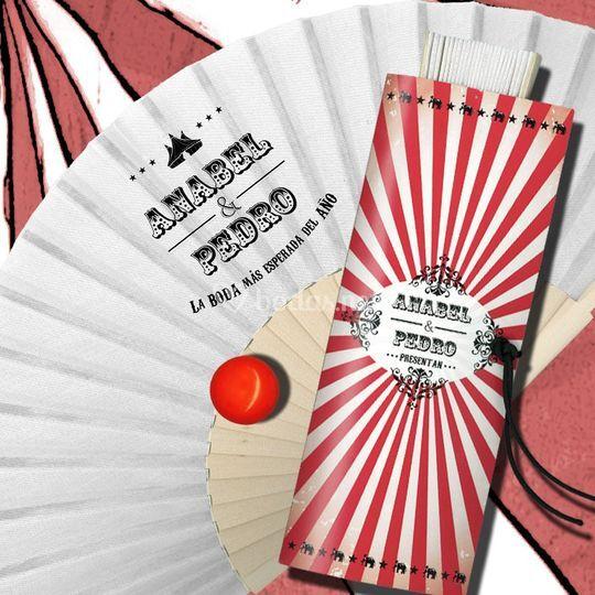 Abanico circus-vintage
