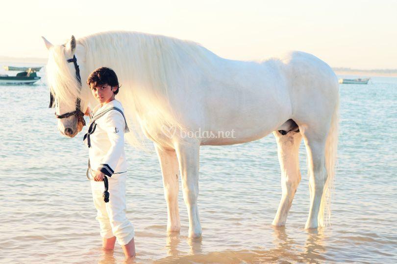 Con su caballo