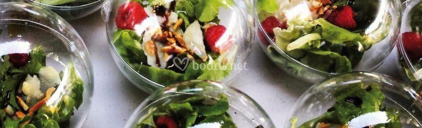 Esferas de ensaladas