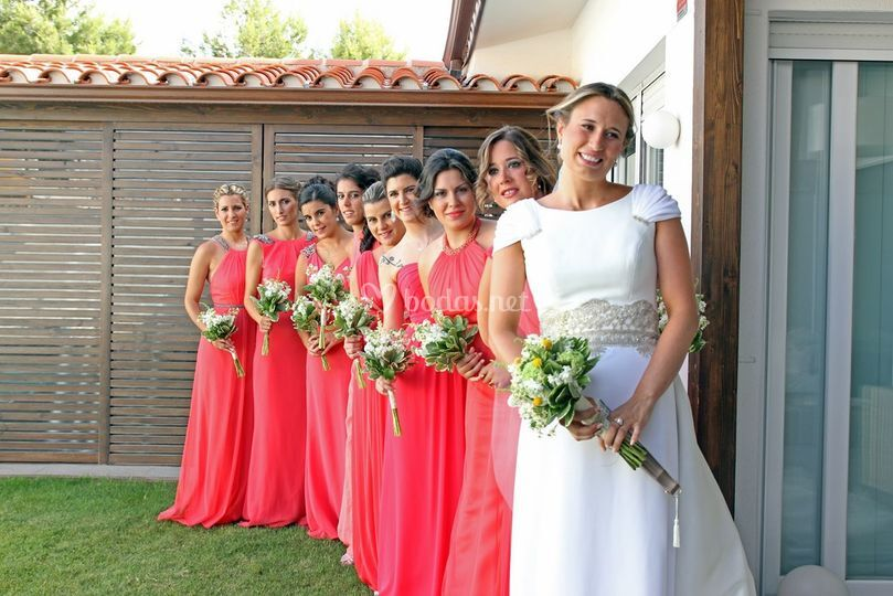 La novia con sus damas de honor