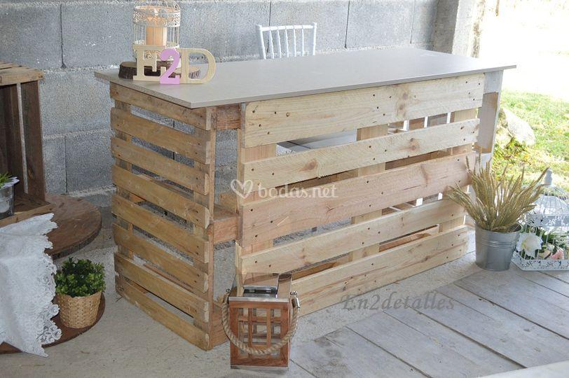 mesa palets mercado navidad - Mesa Con Palets